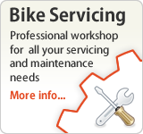 Bike Servicing. Professional workshop for  all your servicing and maintenance needs